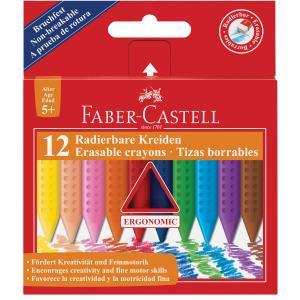 Barvice voščene FABER-CASTELL grip 12/1