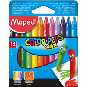 Voščene barvice MAPED Wax 12/1