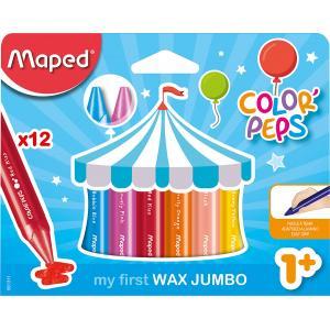 Voščene barvice MAPED Jumbo, 12/1